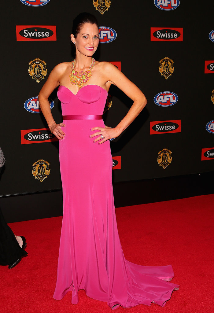Nicole Petrie the wife of Drew Petrie of the Kangaroos.