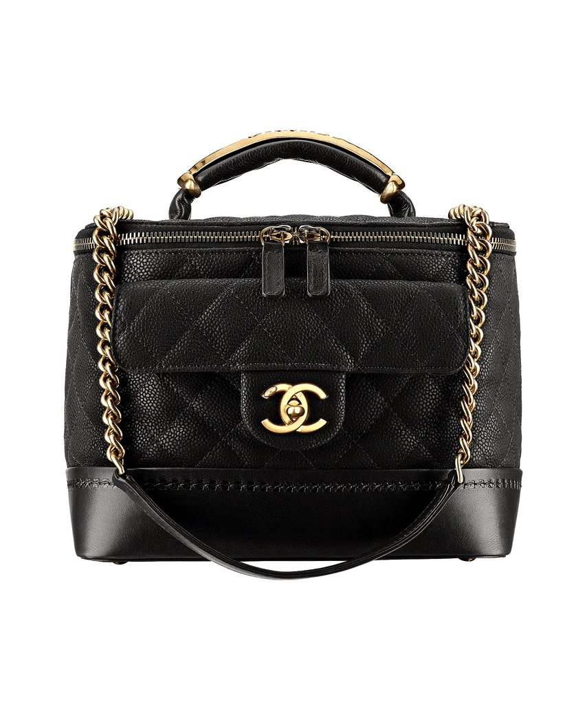 Chanel Black Grained Leather Bag With a CC Lock Photo courtesy of Chanel