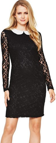 Definitions Embellished Collar Lace Dress