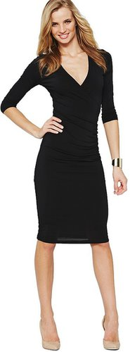 South Petite Crossover Ruched Workwear Dress