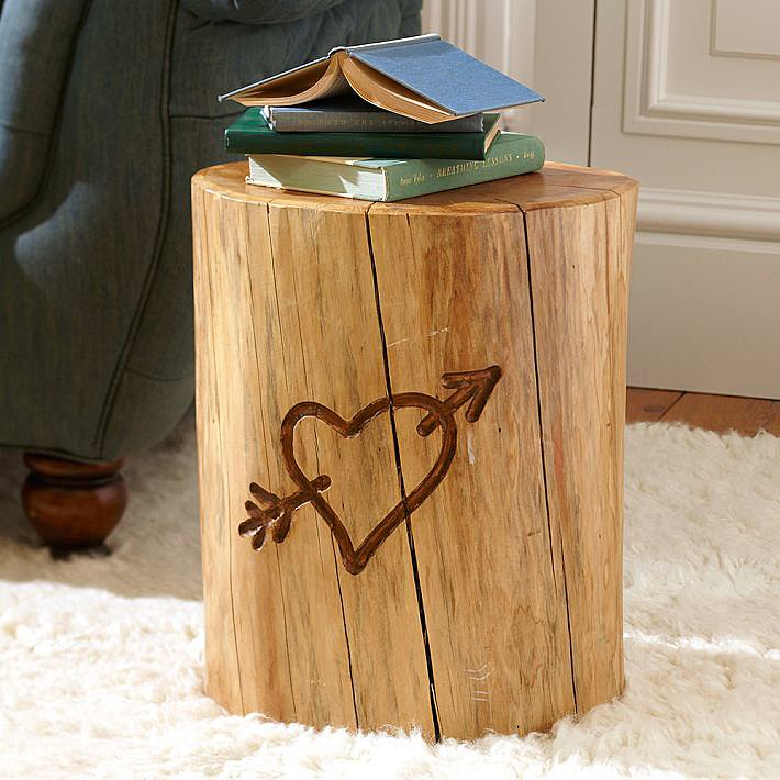 Large Tree Stump Coffee Table: Emily & Meritt For PB Teen