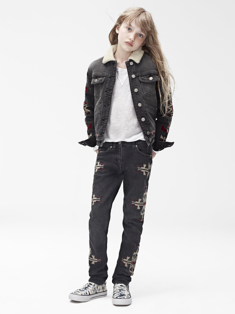 Isabel Marant for H&M Jacket ($60), long-sleeved t-shirt ($30), trousers ($50), shoes ($50) Photo courtesy of H&M
