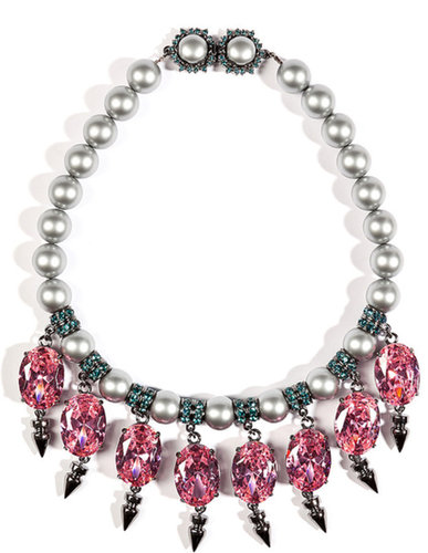 MAWI Collier Perles avec Pierres et Pointes Ovales