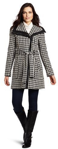 Calvin Klein Women's Houndstooth Coat