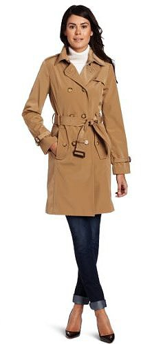 Anne Klein Women's Ines Rain Coat