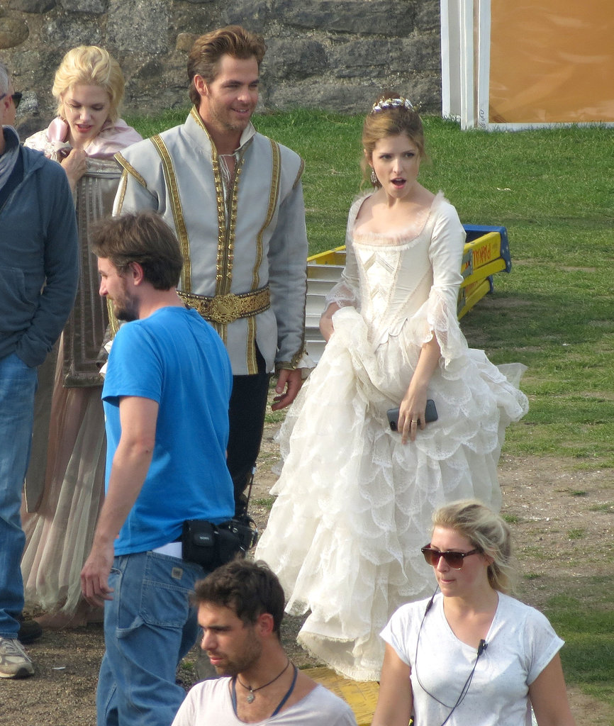 Chris Pine and Anna Kendrick were on the UK set of Into the Woods.