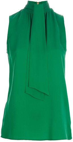 Michael Michael Kors pussy bow sleeveless blouse