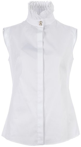 Alexander McQueen ruffle neck blouse