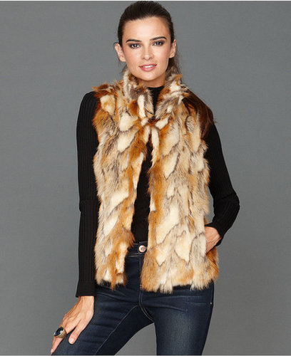 INC International Concepts Vest, Faux-Fur