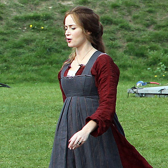 Pregnant Emily Blunt on the Set of Into the Woods