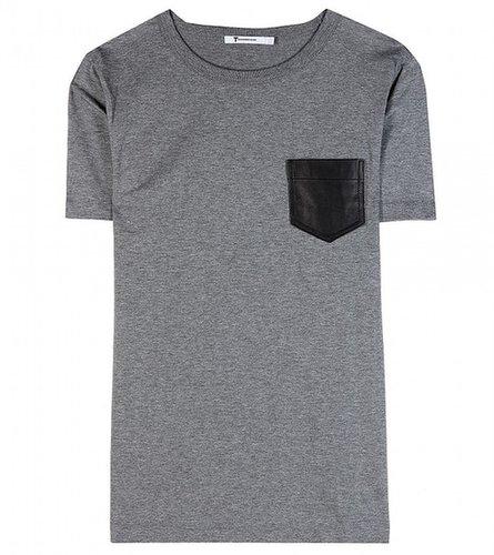 T by Alexander Wang t-shirt en jersey avec poche en cuir
