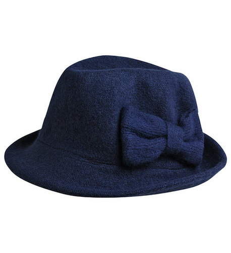 Lafayette Collection Chapeau laine bouillie noeud
