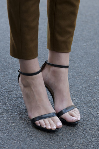 Simply chic ankle straps.