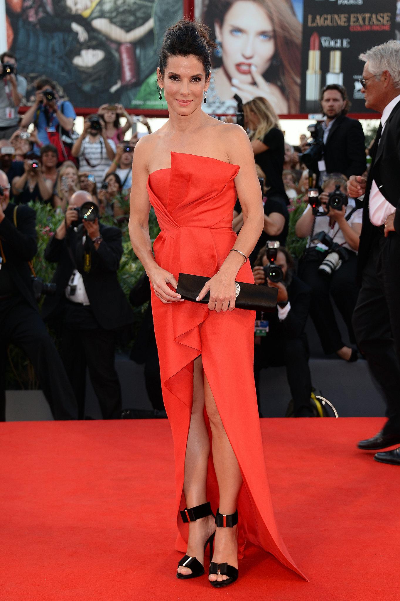 Sandra Bullock in J. Mendel at the Venice Film Festival