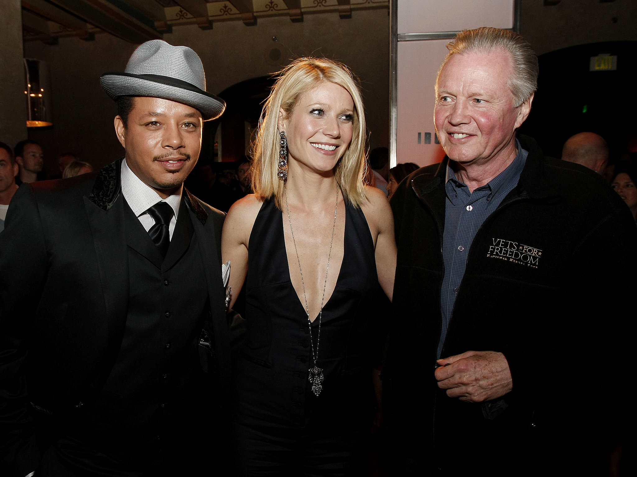 Photo of Jon Voight & his friend actor  Terrence Howard  - Los Angeles