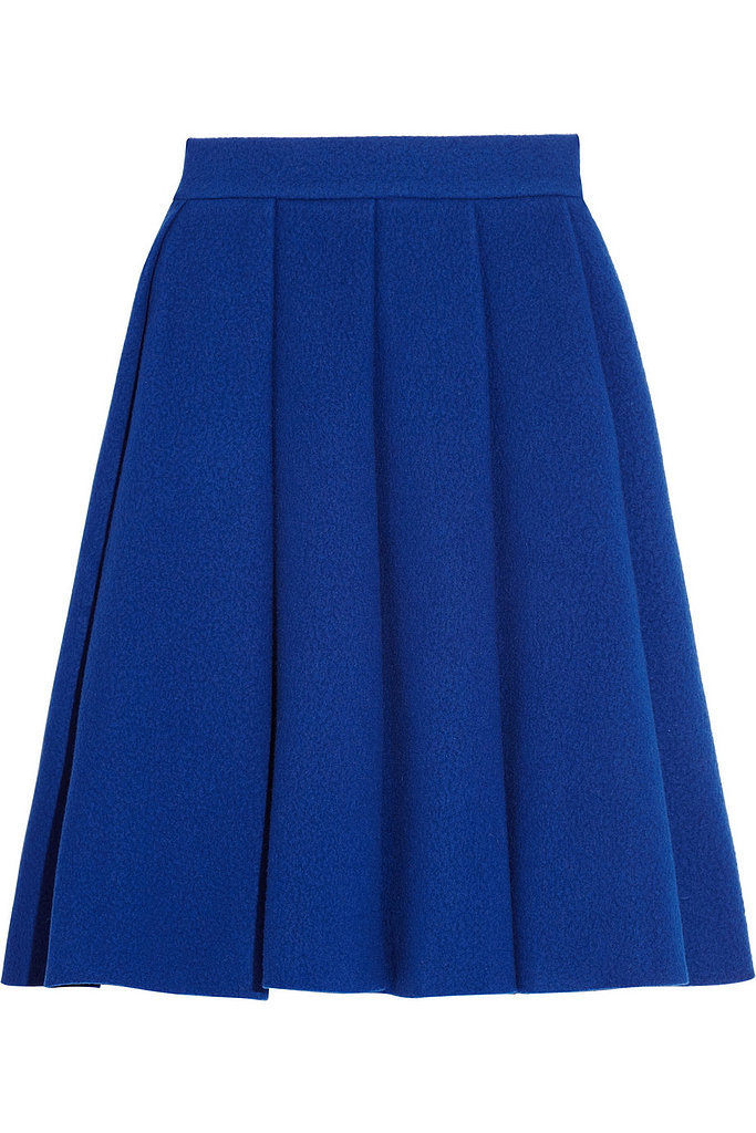 We were so excited to hear that LVMH bought a stake in J.W. Anderson late last month — especially because his Fall collection is filled with modern classics like this Pleated Boiled Wool-Blend Skirt ($805). Not only is it sure to keep the cold out, it also speaks to the generous proportions and stiff shape so many designers tried to create this season. — JF