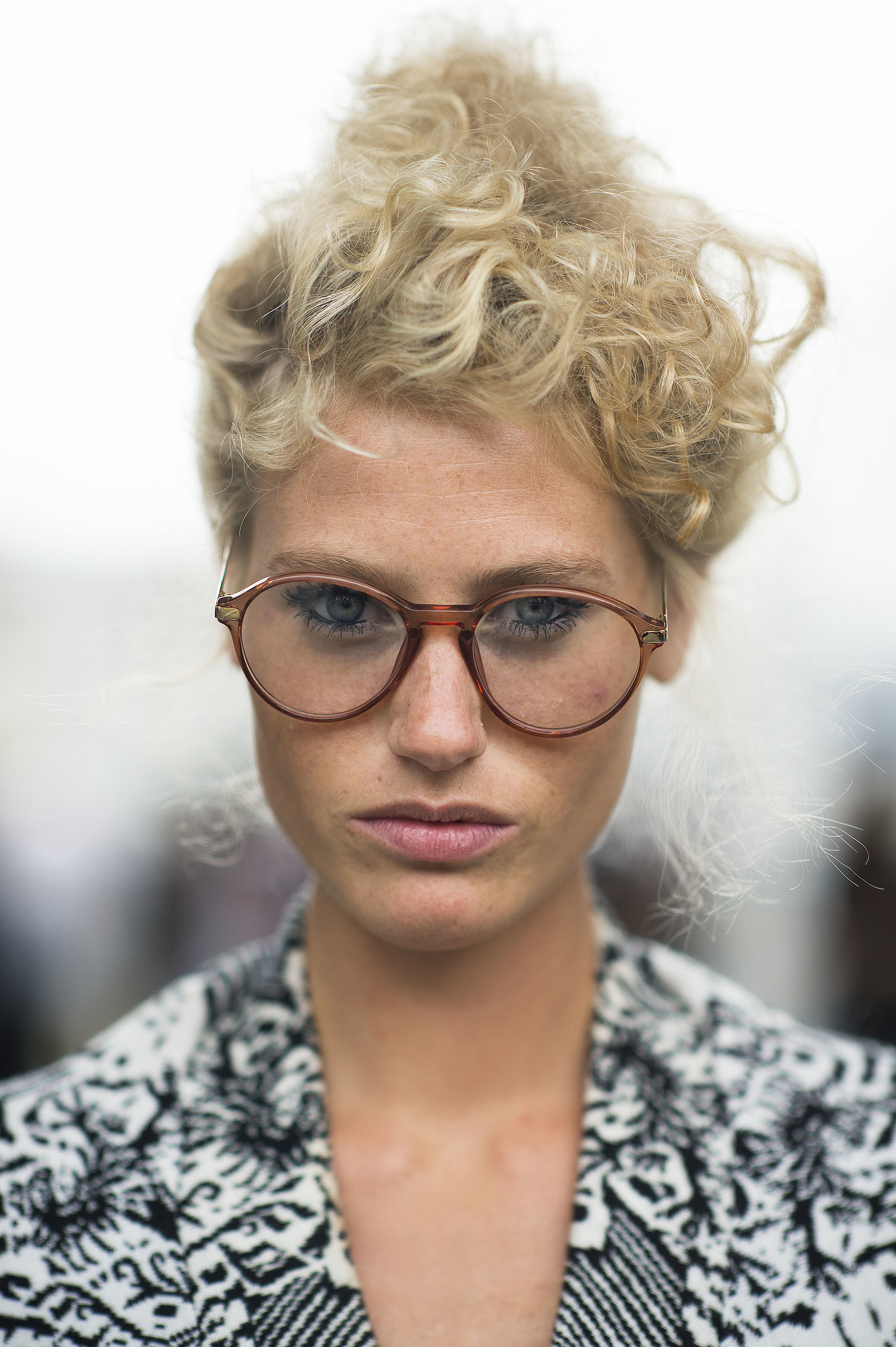 This coiled topknot is too perfect for words. Source: Le 21ème | Adam Katz Sinding