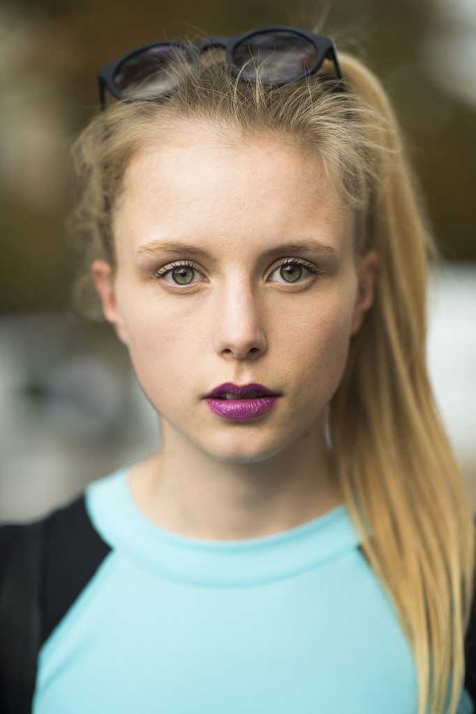 Try a punchier purple lipstick this Fall to break from the ordinary. Source: Le 21ème   Adam Katz Sinding