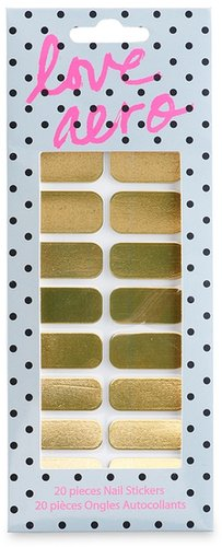 Love Aero Metallic Nail Stickers