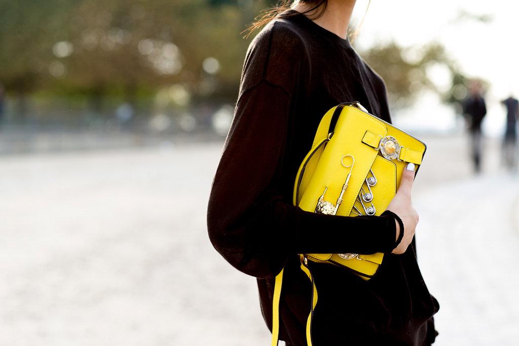 A punchy Versace bag.