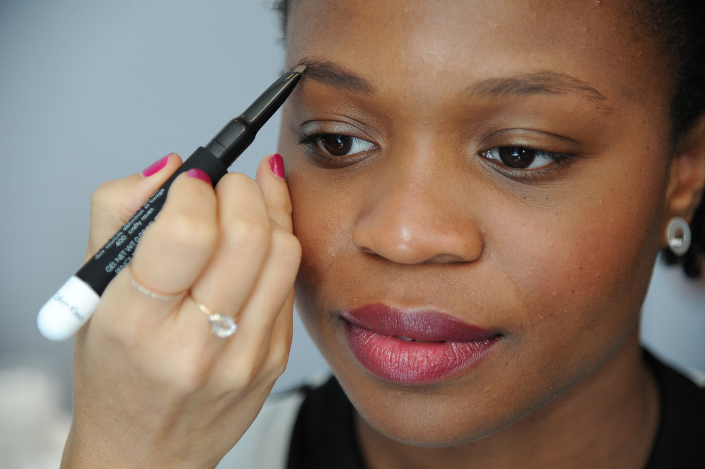 """When it comes to filling in brows, McAdams has a great personal tip: """"When I do my own brows, I step back from the mirror and look at the whole picture."""" She likes to fill in her brows and then compare the shape. """"Know when to use your magnifying mirror and when not to,"""" she says."""