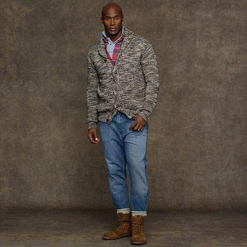Big & Tall Polo Ralph Lauren Cotton Shawl-Collar Cardigan