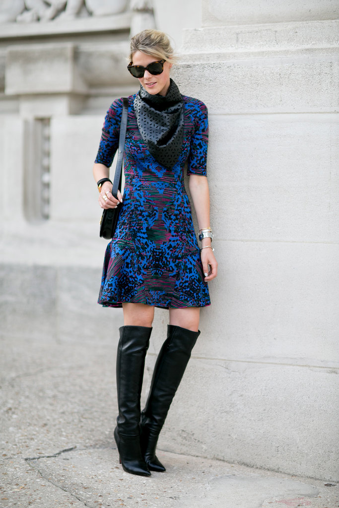 A beautiful print met a gorgeous pair of boots.