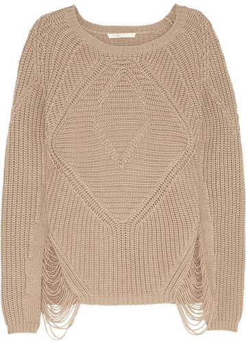 Maje Aero laddered chunky-knit sweater