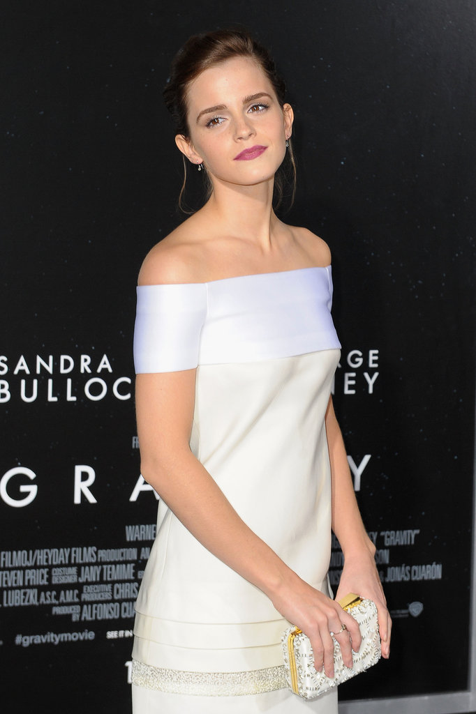 Emma Watson attended the premiere of Gravity in NYC.