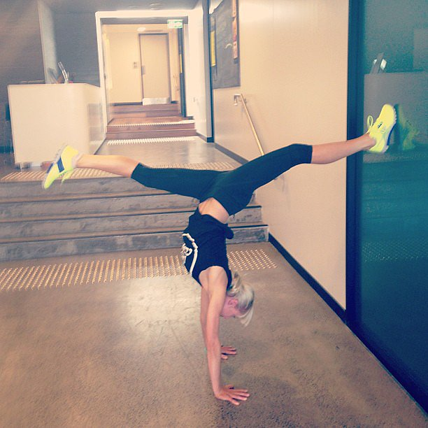 Inspiration to get fit and flexi. Source: Instagram user activeyogi