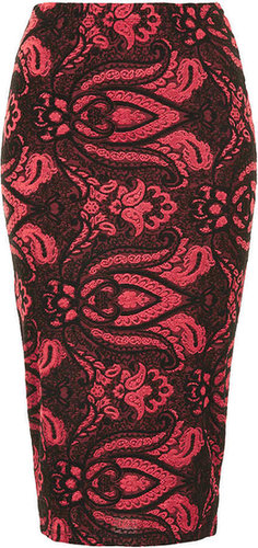 Baroque Print Tube Skirt