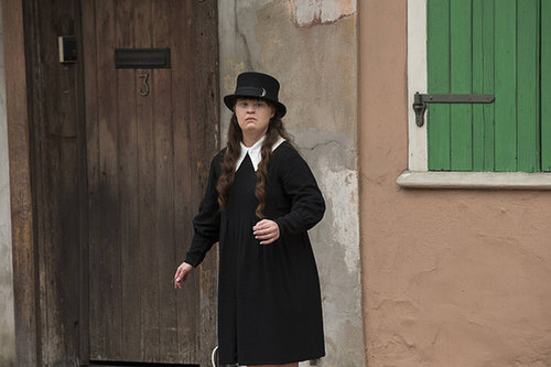 Jamie Brewer as Nan in American Horror Story: Coven.
