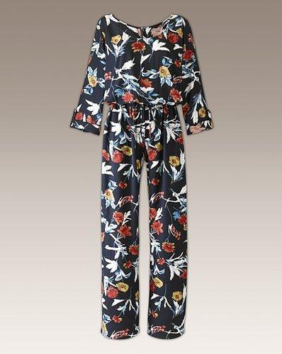 Long Sleeve Floral Print Jumpsuit