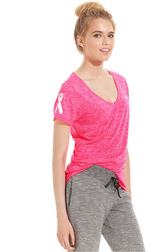 Under Armour Top, Short-Sleeve Power-In-Pink Achieve Tee