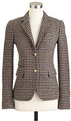 Schoolboy blazer in houndstooth tweed