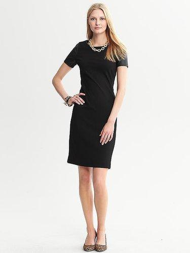 Black Ponte-Knit Dress