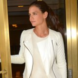 Katie Holmes Catherine Malandrino for Kohl's Leather Jacket