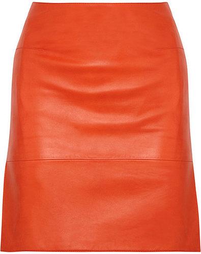 Richard Nicoll Leather skirt