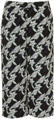 Petite Flower Crop Trousers