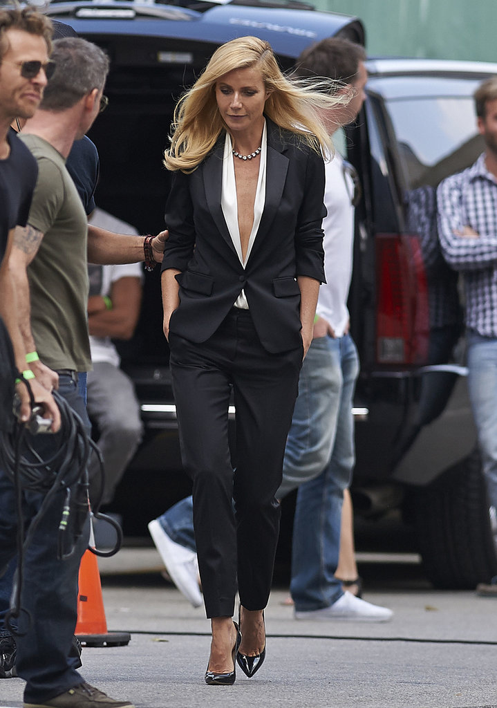 Gwyneth Paltrow filmed her new Hugo Boss ad in LA.