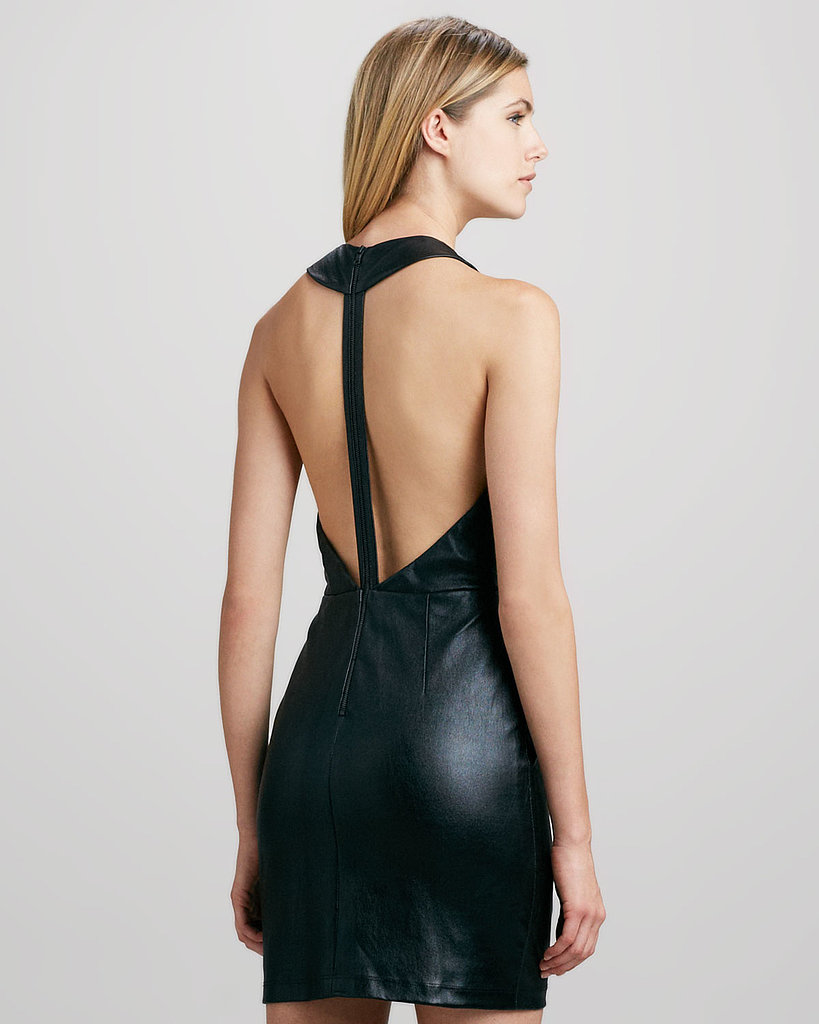 Alice + Olivia Layne Leather T-Back Dress ($598, originally $997)