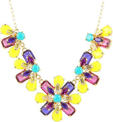 Kate Spade New York - Kaleidoscope Floral Statement Necklace (Multi) - Jewelry