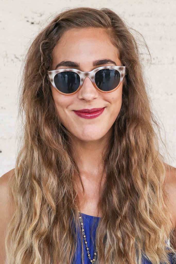 Update your beachy waves of Summer with bold brows and a berry lipstick for Fall.