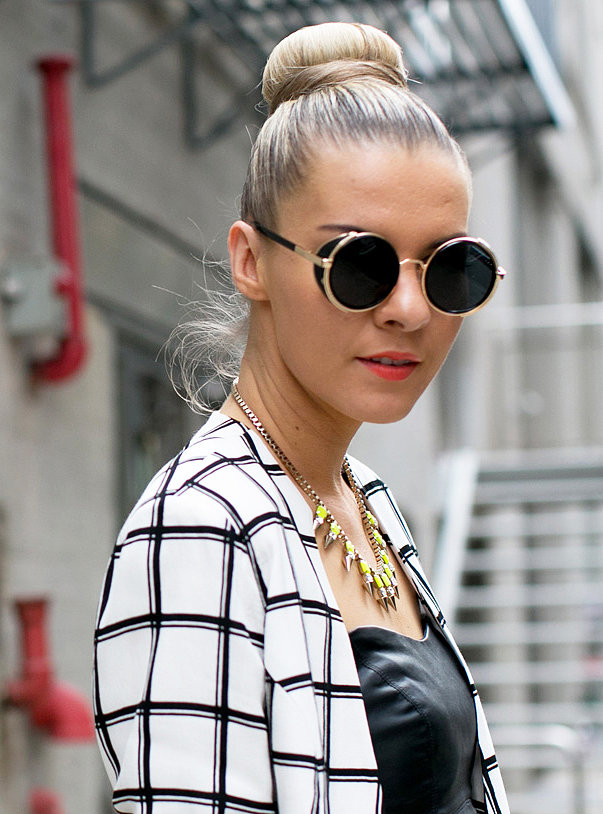 Update your topknot for Fall with sleek, clean lines.