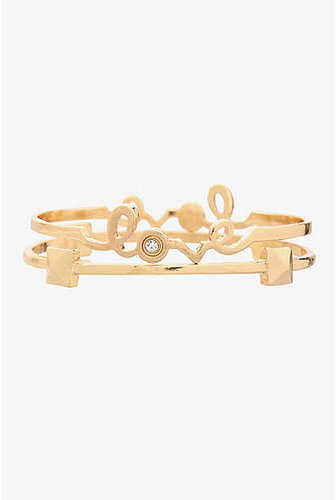 Torrid Gold Love Bangle 2 Set