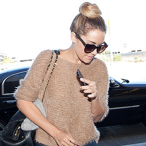 Lauren Conrad Wearing Tan Sweater