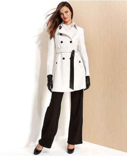 DKNY Coat, Cashmere-Blend Belted Trench