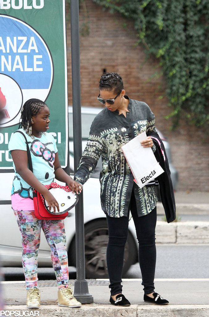 Alicia Keys vacationed in Rome.
