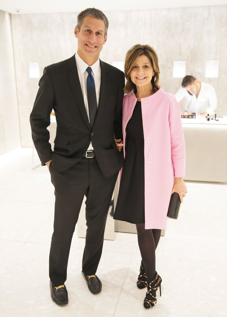 At the Barneys launch of the newly renovated beauty floor, Richard Perry and Lisa Perry joined in the celebration.