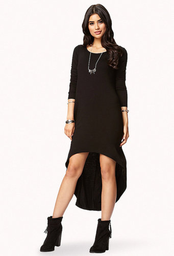FOREVER 21 Long Sleeve High-Low Dress